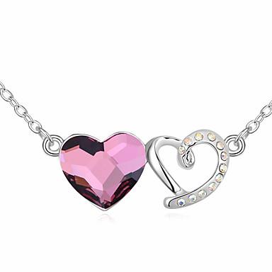 Γυναικεία Κρεμαστά Κολιέ Κρυστάλλινο Heart Shape χαριτωμένο στυλ Κοσμήματα Για