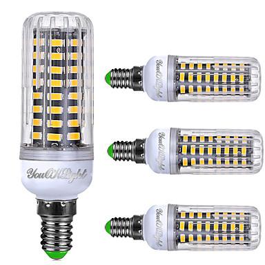6W E14 LED Mısır Işıklar T 72 SMD 5733 450-500 lm Sıcak Beyaz Serin Beyaz Doğal Beyaz AC 220-240 V 4 parça