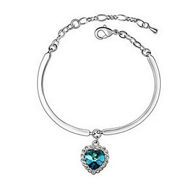 Kadın's Zincir & Halka Bileklikler Mücevher Arkadaşlık Moda Kristal alaşım Geometric Shape Mücevher Parti Doğumgünü