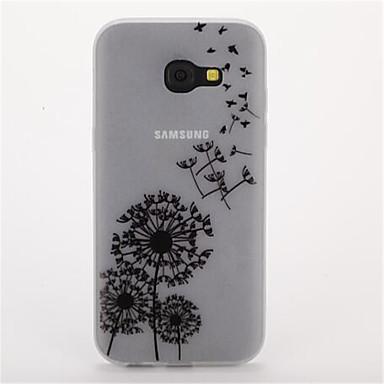 Pouzdro Uyumluluk Samsung Galaxy A5(2017) A3(2017) Karanlıkta Parlayan Buzlu Arka Kılıf Çiçek Yumuşak TPU için A3 (2017) A5 (2017) A7