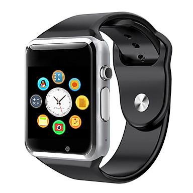 billige Herreure-Herre Dame Smartur Digital Watch Digital Gummi Mangefarvet Touch-skærm Kalender Kronograf Digital Grøn Blå Lys pink / Skridttællere / Speedometer / Træningsmålere / Kommunikation / tachymeter