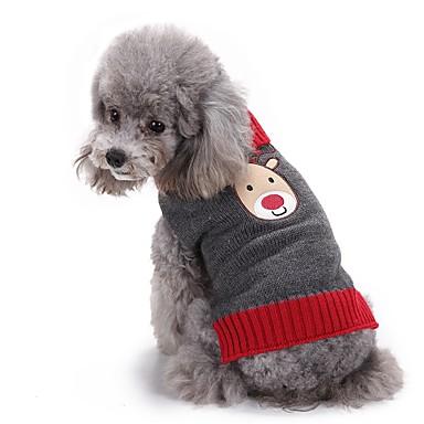Pisici Câini Pulovere Îmbrăcăminte Câini Iarnă Ren Drăguț Modă Crăciun Gri