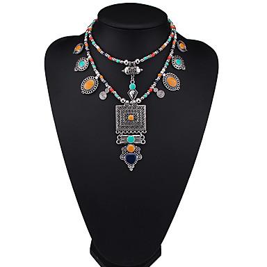 Damskie Inne Kształt euroamerykańskiej Modny Oświadczenie Naszyjniki Biżuteria Skórzany Stop Oświadczenie Naszyjniki Impreza Prezent
