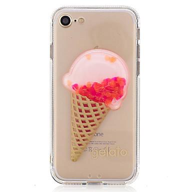 Varten Virtaava neste Läpinäkyvä DIY Etui Takakuori Etui Ruoka Kiiltävä Pehmeä TPU varten AppleiPhone 7 Plus iPhone 7 iPhone 6s Plus