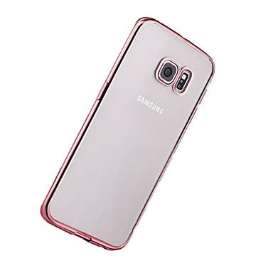 Kılıf Na Samsung Galaxy S8 Plus S8 Galwanizowane Ultra cienkie Przezroczyste Czarne etui Solid Color Miękkie TPU na S8 Plus S8 S7 edge S7
