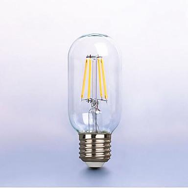 1 개 6W 450-550 lm E26/E27 LED필라멘트 전구 P45 6 LED가 COB 장식 따뜻한 화이트 AC 100-240V