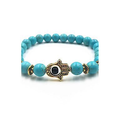 Men's / Women's Strand Bracelet - Turquoise Evil Eye Bracelet Black / Blue / Dark Red For Gift