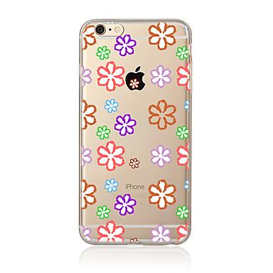 Varten Läpinäkyvä Kuvio Etui Takakuori Etui Kukka Pehmeä TPU varten AppleiPhone 7 Plus iPhone 7 iPhone 6s Plus iPhone 6 Plus iPhone 6s