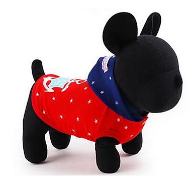 Σκύλος Φανέλα Ρούχα για σκύλους Χαριτωμένο Καθημερινά Μονόχρωμο Κόκκινο Μπλε Στολές Για κατοικίδια