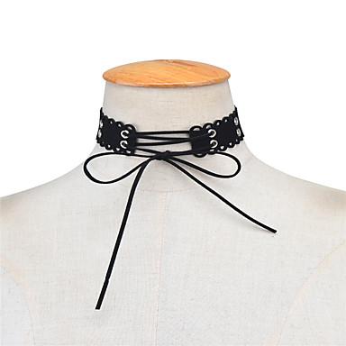Pentru femei Bowknot Shape Personalizat Modă Euramerican stil minimalist Coliere Choker Bijuterii Material Textil Coliere Choker .