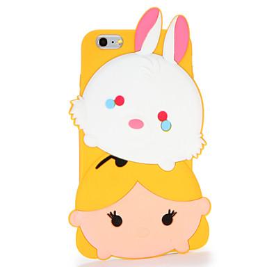 Varten Kuvio Etui Takakuori Etui 3D piirros Pehmeä Silikoni varten AppleiPhone 7 Plus iPhone 7 iPhone 6s Plus iPhone 6 Plus iPhone 6s