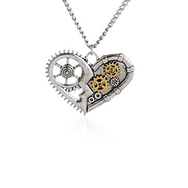 للمرأة قلائد الحلي مجوهرات Heart Shape سبيكة تصميم فريد ستايل الشعار الطبيعة ملابس-طرق متعددة اسلوب لطيف مجوهرات من أجل حزب عيد ميلاد