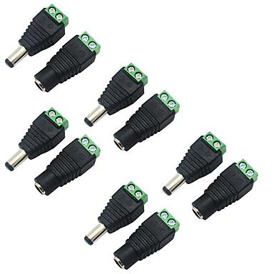 5 kpl 5,5 x 2,1 mm tynnyri valtaa 12v miesten ja naisten Virtaliitin liitin plug CCTV turvallisuus kamera led nauhat