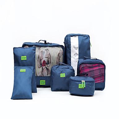 7 kpl Matkatavaran sisälaukku Vedenkestävä Kannettava Säilytys matkalla Vaatteet Kengät Nylon Matkailu