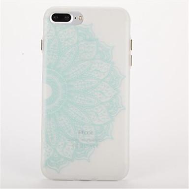 Pouzdro Uyumluluk Apple Karanlıkta Parlayan Buzlu Süslü Arka Kılıf Mandala Yumuşak TPU için iPhone 7 Plus iPhone 7 iPhone 6s Plus iPhone