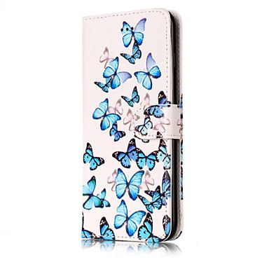 Maska Pentru Apple iPhone X iPhone 8 Titluar Card Portofel Cu Stand Întoarce Model Carcasă Telefon Floare Greu PU piele pentru iPhone X