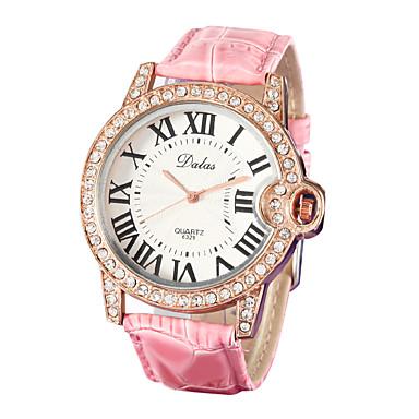 Pentru femei Ceas de Mână Japoneză Piele PU Matlasată Alb / Pink imitație de diamant Analog femei Sclipici Modă - Alb Roz