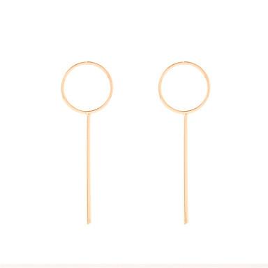 أقراط طارة حلقات مجوهرات موضة euramerican في أسلوب بسيط أوروبي نحاس Circle Shape Geometric Shape ذهبي فضي مجوهرات إلى يوميا فضفاض 1 زوج