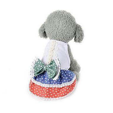 Köpek Elbiseler Köpek Giyimi Çiçek Gökküşağı Pamuk Kostüm Evcil hayvanlar için Erkek Kadın's Sevimli Günlük/Sade