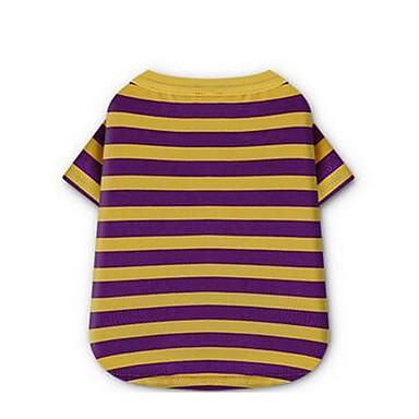 Pies T-shirt Ubrania dla psów Naszywka Purple Czerwony Bawełna Kostium Dla zwierząt domowych Męskie Damskie Urocza Codzienne Modny