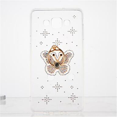 إلى حجر كريم حامل الخاتم شفاف اصنع بنفسك غطاء غطاء خلفي غطاء فراشة ناعم TPU إلى Samsung A7