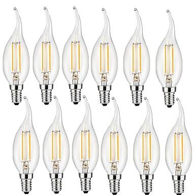 2W E14 LED Filaman Ampuller CA35 2 led COB Dekorotif Sıcak Beyaz 190lm 2700-3000K AC 220-240V