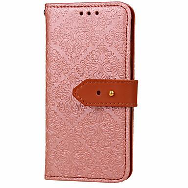 غطاء من أجل Samsung Galaxy A5(2017) A3(2017) حامل البطاقات محفظة مع حامل قلب نموذج مطرز غطاء كامل للجسم زهور قاسي جلد PU إلى A3 (2017) A5