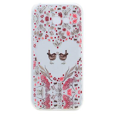 Maska Pentru Samsung Galaxy A5(2017) A3(2017) Transparent Model Carcasă Spate Inimă Moale TPU pentru A3 (2017) A5 (2017)
