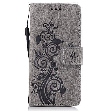 غطاء من أجل سوني Z5 Sony Xperia Z3 Sony سوني اريكسون XA سوني اريكسون X حامل البطاقات محفظة مع حامل قلب نموذج مطرز غطاء كامل للجسم زهور
