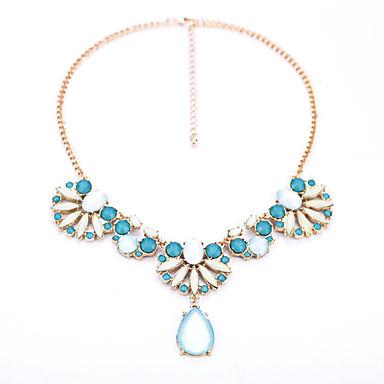 Kadın's Uçlu Kolyeler Flower Shape Damla Moda Kişiselleştirilmiş Mücevher Uyumluluk Günlük