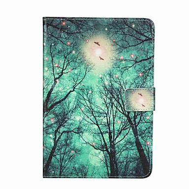 Kılıf Na Apple Etui na karty Portfel Z podpórką Flip Wzór Futerał Drzewo Twarde Sztuczna skóra na iPad Mini 4 iPad Mini 3/2/1