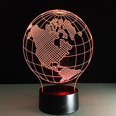 نايلليت الاكريليك الجدول مصابيح الجدول خريطة أمريكا شكل ملون ليلة مصباح الأطفال هدية عيد الحلي بور إنفانتس