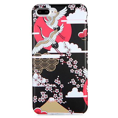 Voor apple iphone7 7 plus case cover patroon achterkant hoesje kraan dier bloem zachte tpu 6s plus 6 plus 6s 6