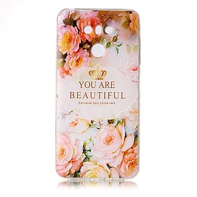 غطاء من أجل LG شفاف مطرز نموذج غطاء خلفي جملة / كلمة زهور ناعم TPU إلى LG G6