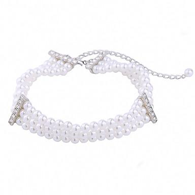 Damskie Pasemka Naszyjniki Kryształ Unikalny Modny Osobiste euroamerykańskiej White Biżuteria Na Ślub Impreza 1szt