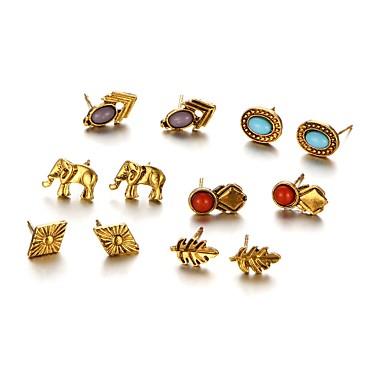 Dames Oorknopjes Cirkelvormig ontwerp Uniek ontwerp Legering Sieraden Feest Dagelijks Causaal Kostuum juwelen
