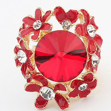 Pentru femei Inel Band Ring Diamant sintetic Personalizat Floral Design Unic Stil Logo Stil Floral Clasic Vintage Boem De Bază Flori