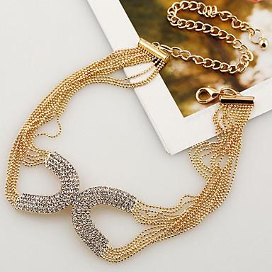 Pentru femei Ștras Argilă Placat Auriu Coliere Choker - Modă Circle Shape Auriu Argintiu Coliere Pentru Petrecere Ocazie specială Cadou