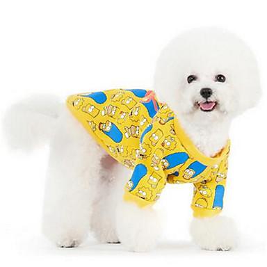 Σκύλος Φανέλα Χριστούγεννα Ρούχα για σκύλους Αφηρημένο Patchwork Contemporary Κίτρινο Βαμβάκι Πούπουλα Στολές Για κατοικίδια Γιούνισεξ