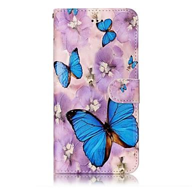 Für iphone 7 7 plus Fallabdeckung Kartenhaltermappe prägeartiges Muster volles Körperkasten Schmetterling hartes PU-Leder für iphone 6s 6