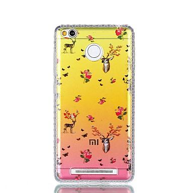 Etui Käyttötarkoitus Xiaomi Paljetti IMD Läpinäkyvä Kuvio Takakuori Eläin Kova PC varten Xiaomi Redmi Note 4X Xiaomi Redmi 4a Xiaomi