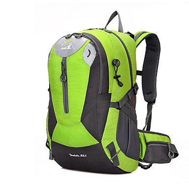 35 L حقيبة الظهر التسلق رياضة وترفيه التخييم والتنزه مقاوم للماء يمكن ارتداؤها متنفس متعددة الوظائف