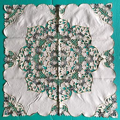 Neliö Embroidered Table Cloths , Mélange Poly/Coton materiaaliTaulukko Dceoration Häät Illallinen sisustus Favor Sisustus Hotel