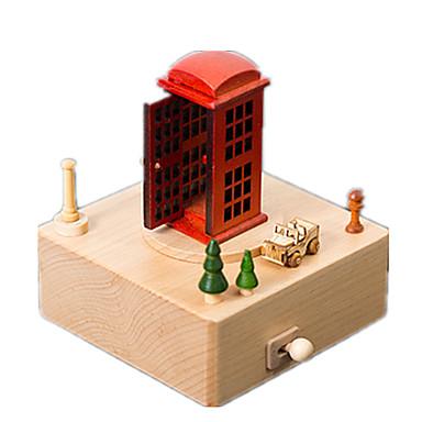 Spieluhr Holzmodell Modellbausätze Spielzeuge Sphäre Kunststoff Stücke Unisex Geschenk