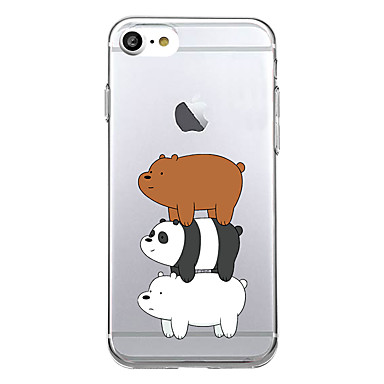 Maska Pentru Apple Ultra subțire Model Carcasă Spate Panda Animal Moale TPU pentru iPhone 7 Plus iPhone 7 iPhone 6s Plus iPhone 6 Plus