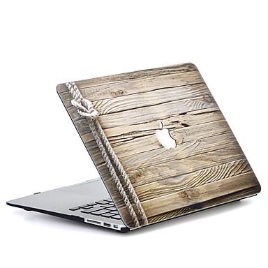 MacBook Hoes voor Macbook Houtnerf Polycarbonaat Materiaal