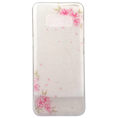 Etui Käyttötarkoitus Samsung Galaxy S8 Plus S8 IMD Läpinäkyvä Kuvio Takakuori Kukka Pehmeä TPU varten S8 S8 Plus
