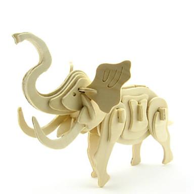 3D - Puzzle Holzpuzzle Holzmodelle Modellbausätze Elefant 3D Tiere Heimwerken Holz Klassisch Unisex Geschenk