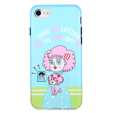 hoesje Voor Apple iPhone 7 Plus iPhone 7 Patroon Achterkant Cartoon Zacht TPU voor iPhone 7 Plus iPhone 7 iPhone 6s Plus iPhone 6s iPhone