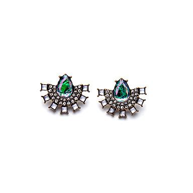 Kolczyki na sztyft Kryształ Modny Osobiste Geometric Shape Light Green Biżuteria Na Ślub Impreza Urodziny 1 para